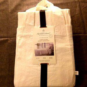 Twin Duvet Cover Set Linen Sour Cream Hearth&Hand
